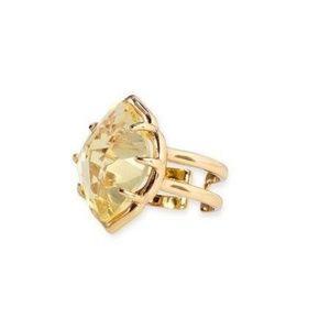 Stella & Dot Canary Arabesque Adjustable Ring